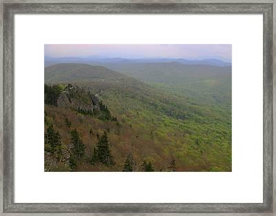 Blue Ridge View 3 Framed Print by Karol Livote