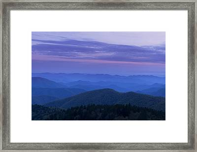 Blue Ridge View Framed Print by Andrew Soundarajan