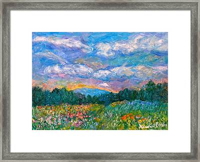 Blue Ridge Wildflowers Framed Print