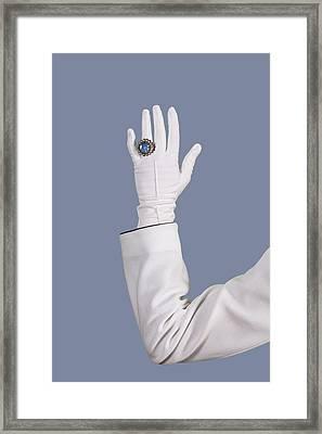 Blue Ring Framed Print by Joana Kruse