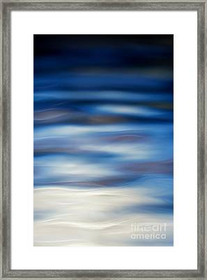 Blue Ripple Framed Print