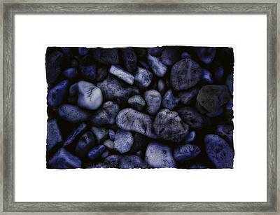 Blue Rocks Framed Print by Jerry Golab