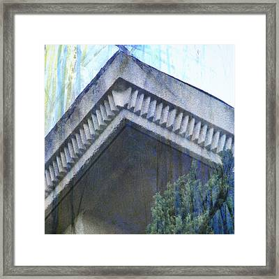 Framed Print featuring the photograph Blue Rooftop by John Fish