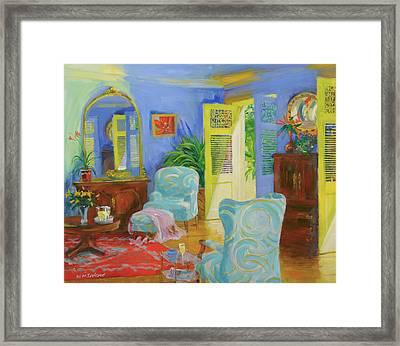 Blue Room, 20078 Oil On Board Framed Print