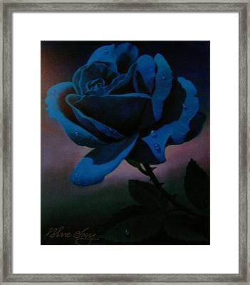 Blue Rose Framed Print by Blue Sky