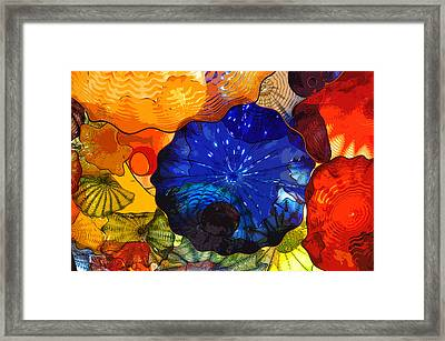 Framed Print featuring the digital art Blue Rose by Kirt Tisdale