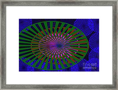Blue Rounds And Spirals Framed Print by Tina M Wenger
