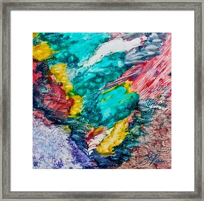 Blue Rush Framed Print by Joan Reese