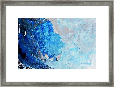 Blue Rust Framed Print by Randi Grace Nilsberg