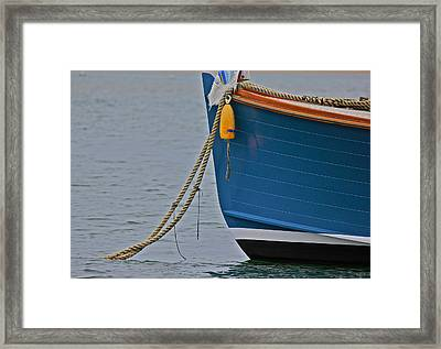 Framed Print featuring the photograph Blue Sailboat by Amazing Jules