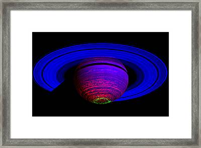 Framed Print featuring the photograph Blue Saturn 1 by Renee Anderson