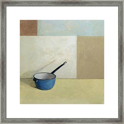 Blue Saucepan Framed Print by William Packer