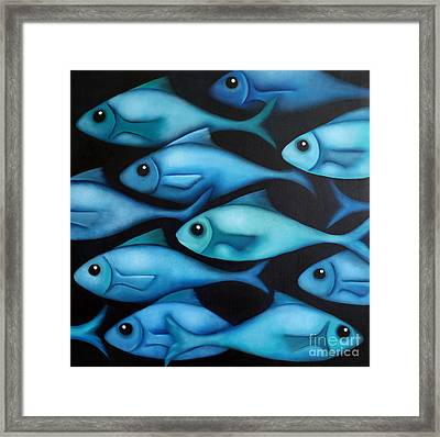 Blue School 2 Framed Print