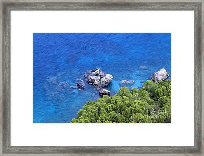 Blue Sea Framed Print by Boon Mee