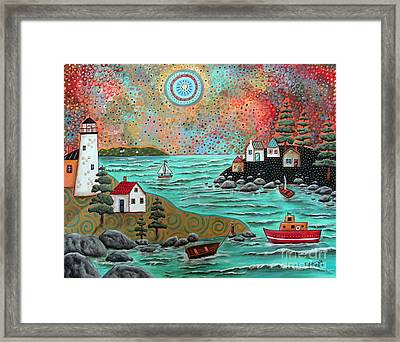 Blue Sea Framed Print by Karla Gerard