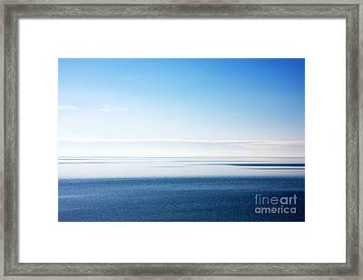 Blue Sea Scene Framed Print
