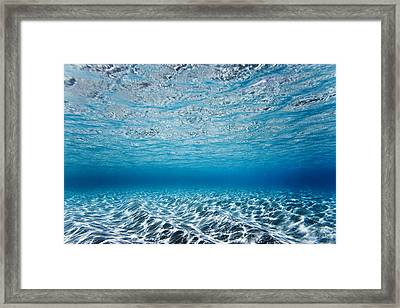 Blue Sea Framed Print by Sean Davey
