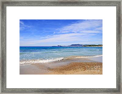 Blue Seashore Of Cote Dazur Framed Print