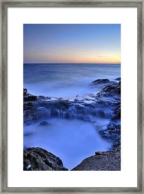 Blue Seaside Framed Print by Guido Montanes Castillo