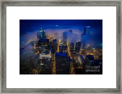 Blue Seattle Framed Print by Mike Reid