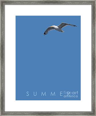 Blue Series 001 Summer Framed Print by Rob Snow