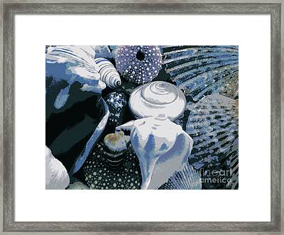Blue Shells Framed Print by Janice Westerberg