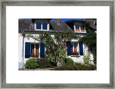 Blue Shutters Framed Print