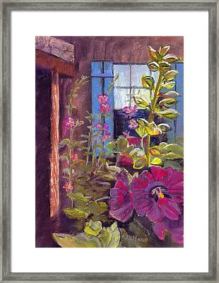 Blue Shutters Framed Print by Julie Maas