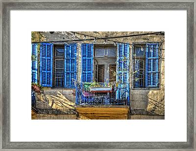 Blue Shutters Framed Print by Ken Smith