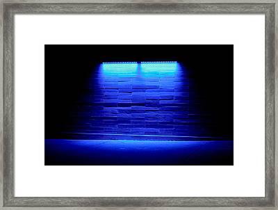 Blue Sidewalk Framed Print by Tony Grider