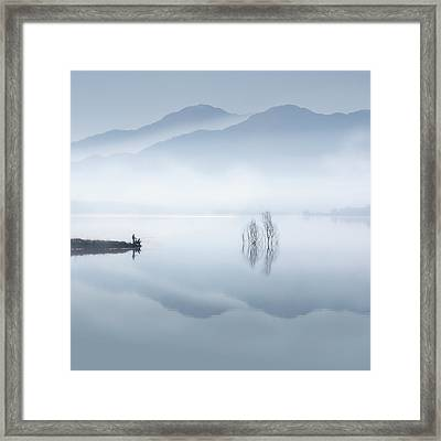 Blue Silence Framed Print
