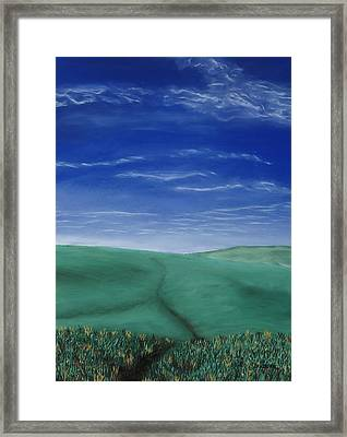 Blue Skies Ahead Framed Print