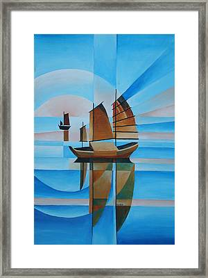 Blue Skies And Cerulean Seas Framed Print