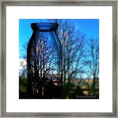 Blue Skies Bottled Winter In Oregon Framed Print