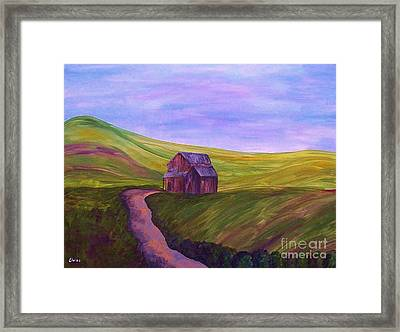 Blue Skies In The Hill Country Framed Print by Eloise Schneider