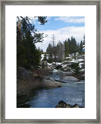 Framed Print featuring the photograph Blue Skies Of Winter by Bobbee Rickard