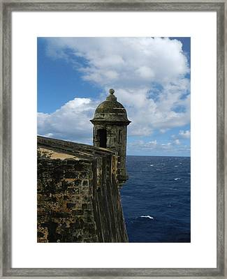 Blue Skies On The Horizon Framed Print