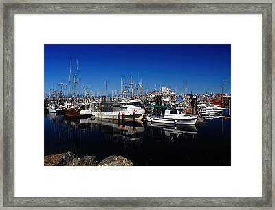 Blue Skies Over French Creek Framed Print by Randy Hall