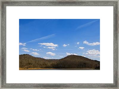 Blue Skies Over The Ohio River Framed Print