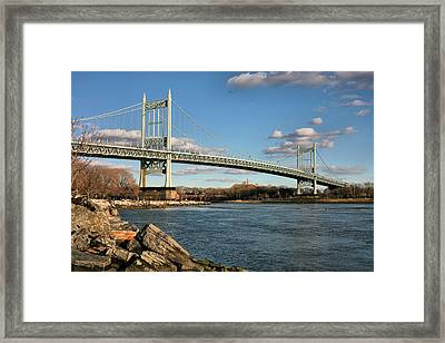 Blue Skies Over The Triboro Framed Print by JC Findley
