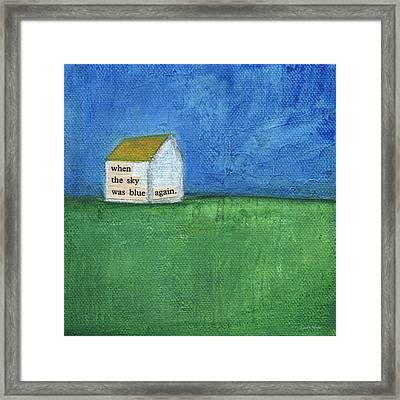 Blue Sky Again Framed Print by Linda Woods