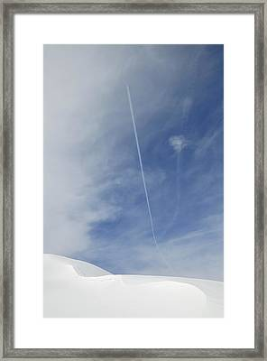 Blue Sky And Snow Framed Print