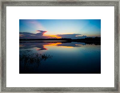 Blue Sky And Water Framed Print by Parker Cunningham