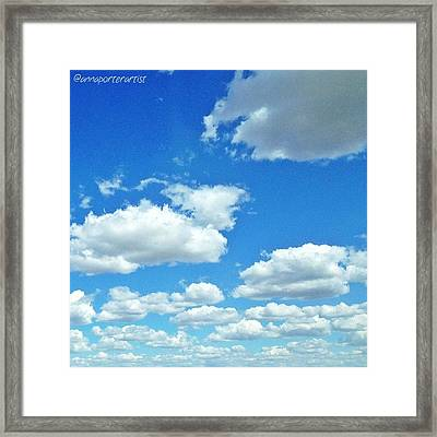 Blue Sky And White Clouds Framed Print