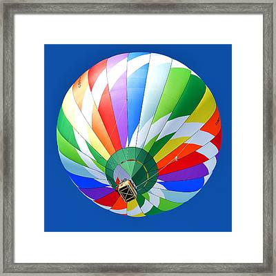 Blue Sky Balloon Framed Print by Stephen Richards