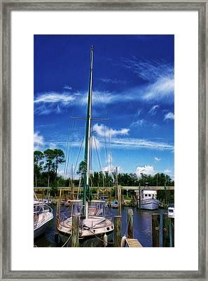 Blue Sky Framed Print by Barry Jones