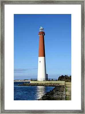 Blue Sky Blue Sea  And Barnegat Light Framed Print