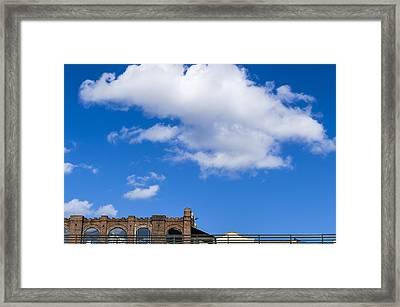 Blue Sky Bricks Framed Print by Frank Winters