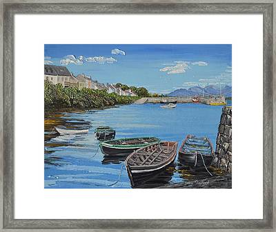 Blue Sky Day Roundstone Connemara Framed Print