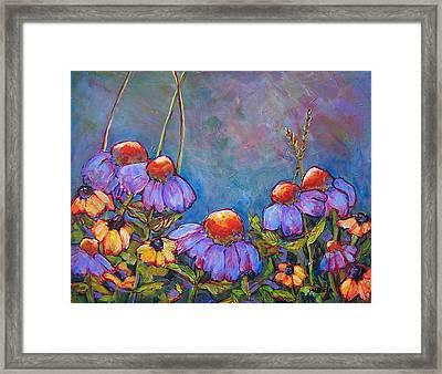 Blue Sky Flowers Framed Print by Blenda Studio